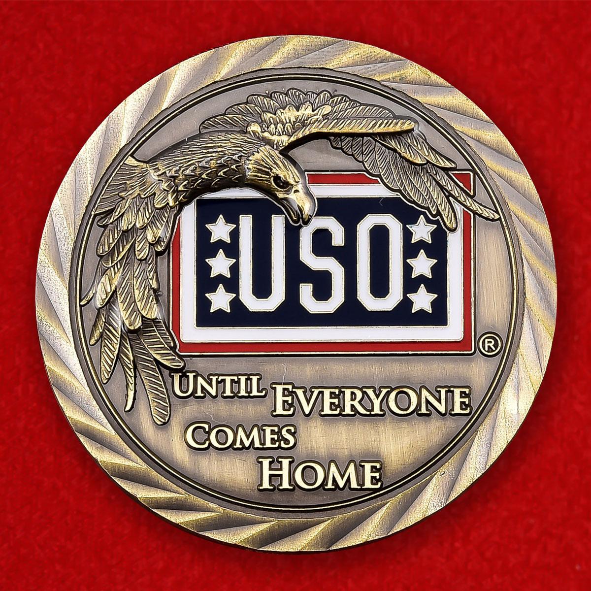 """Монета США """"Объединение организаций по обслуживанию военнослужащих и членов их семей"""""""