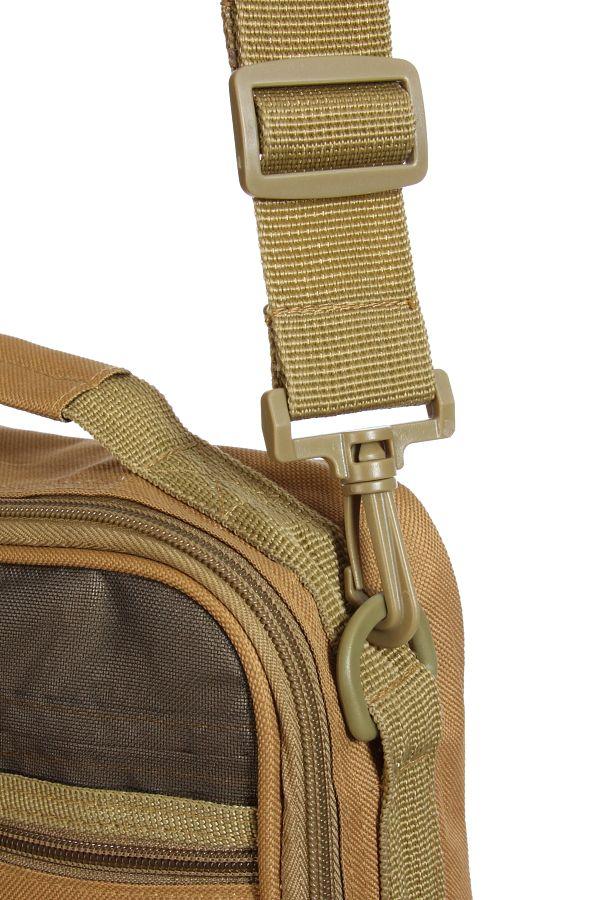 Мужская тактическая сумка через плечо (хаки)
