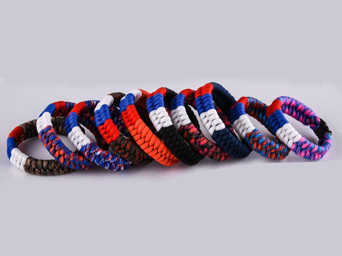 Звквзвть мужской браслет из шнура