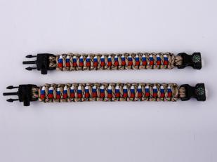 Мужской браслет из шнурков - два размера