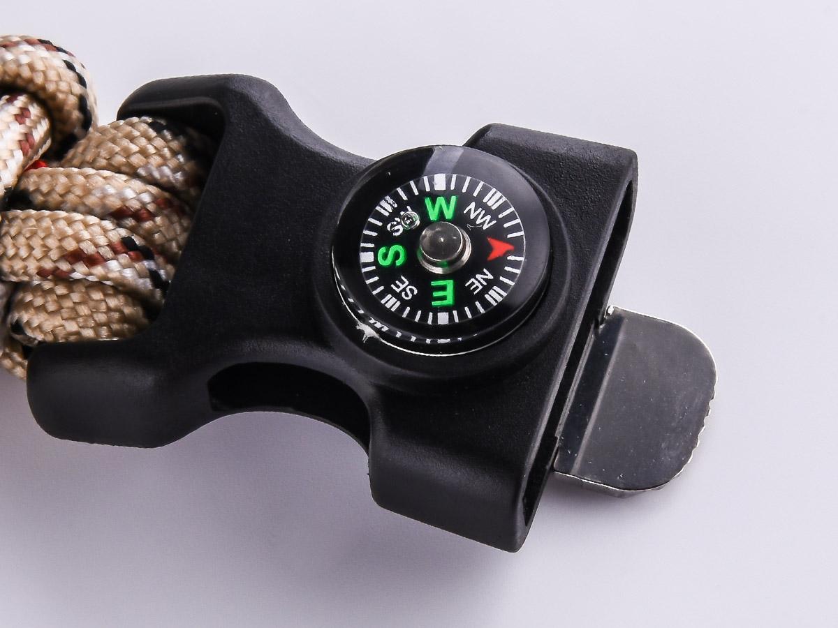 Мужской браслет из шнурков с компасом