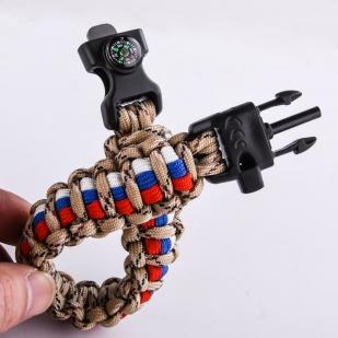Мужской браслет из шнурков - пряжка-фастекс