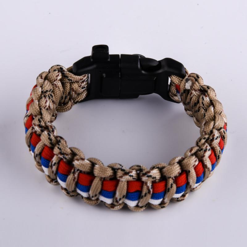 Купить мужские браслеты из шнурков с триколором России