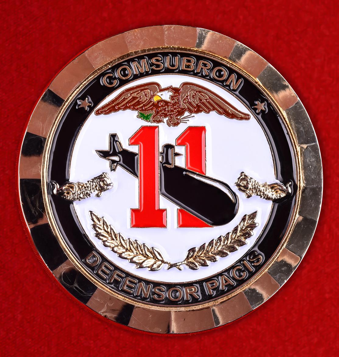 """Наградная монета """"11-й дивизион субмарин ВМС США"""""""