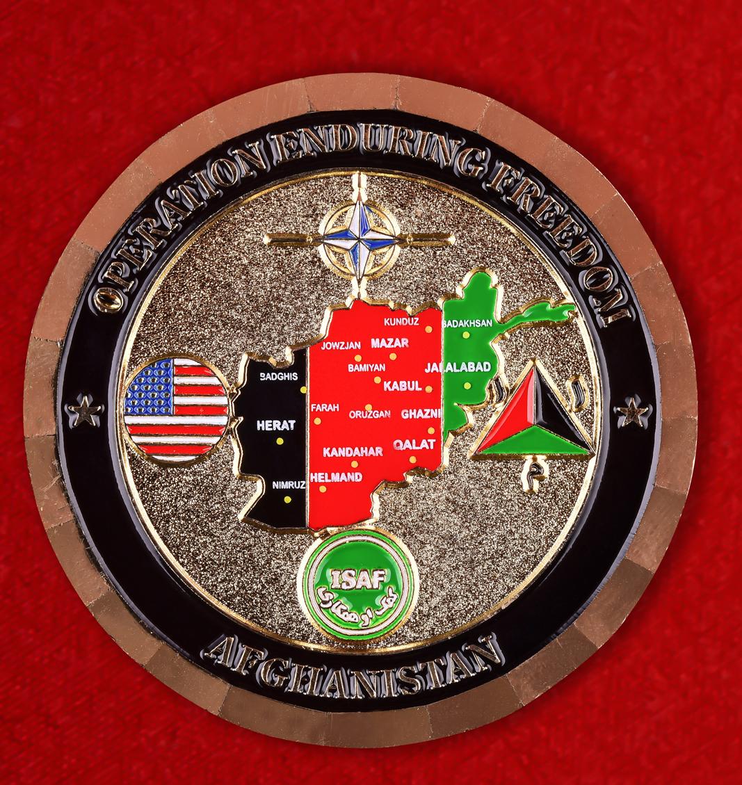 """Наградной знак НАТО """"Ветеран операции Несокрушимая свобода"""""""