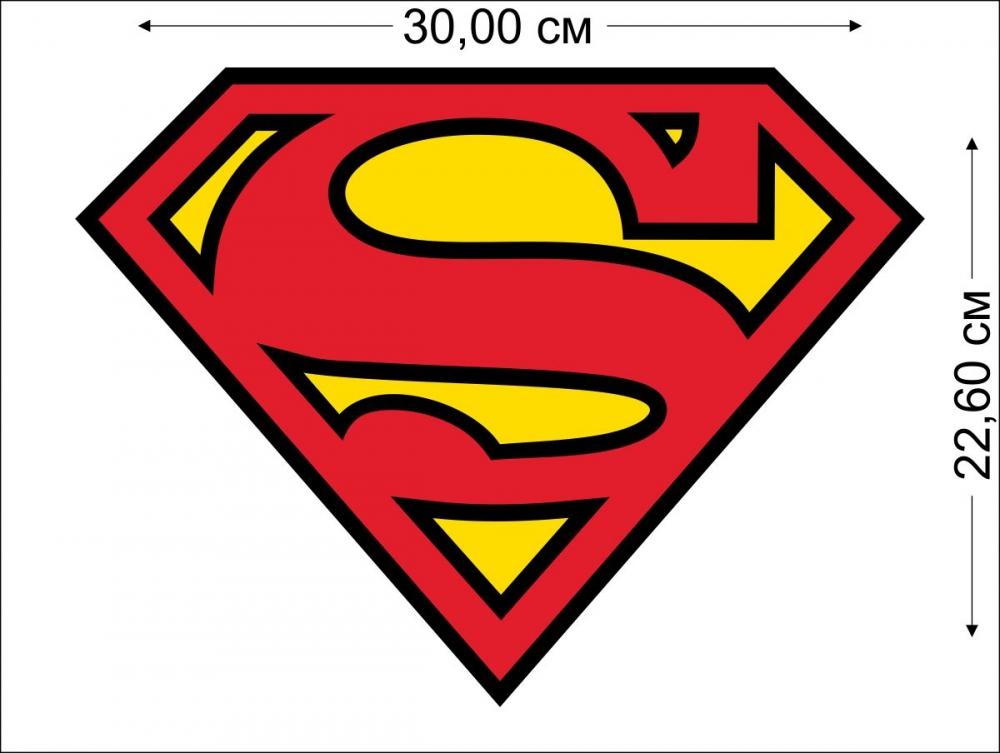 Наклейки Супермен на авто высокого качества по выгодной цене