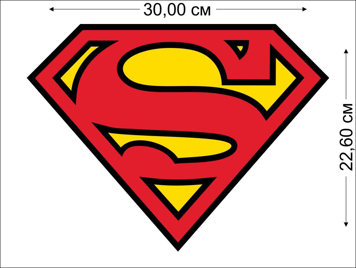 Наклейка Супермен на авто
