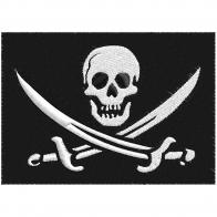 Нашивка байкерская «Череп с саблями»