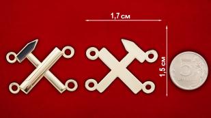 """Нашивка """"Инструменты"""" - сравнительный размер"""