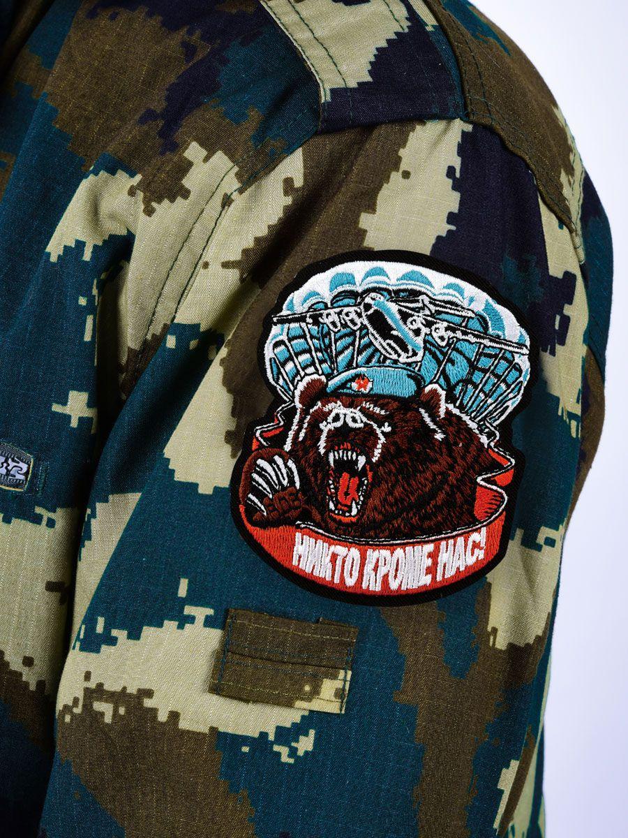 Нашивка Медведь в берете ВДВ