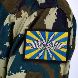 Нашивка ВВС РФ - термо-клеевая основа