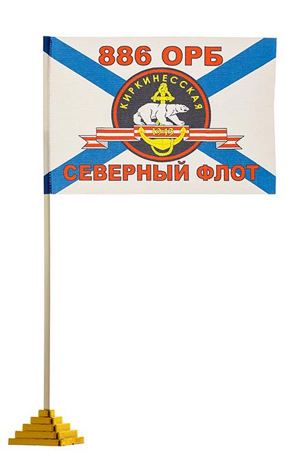 Настольный флажок 886-го отдельного разведывательного батальона МП СФ