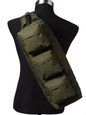 Однолямочный тактический рюкзак хаки-олива
