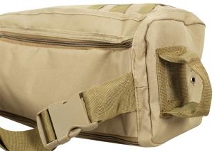 Однолямочный тактический рюкзак хаки-песок
