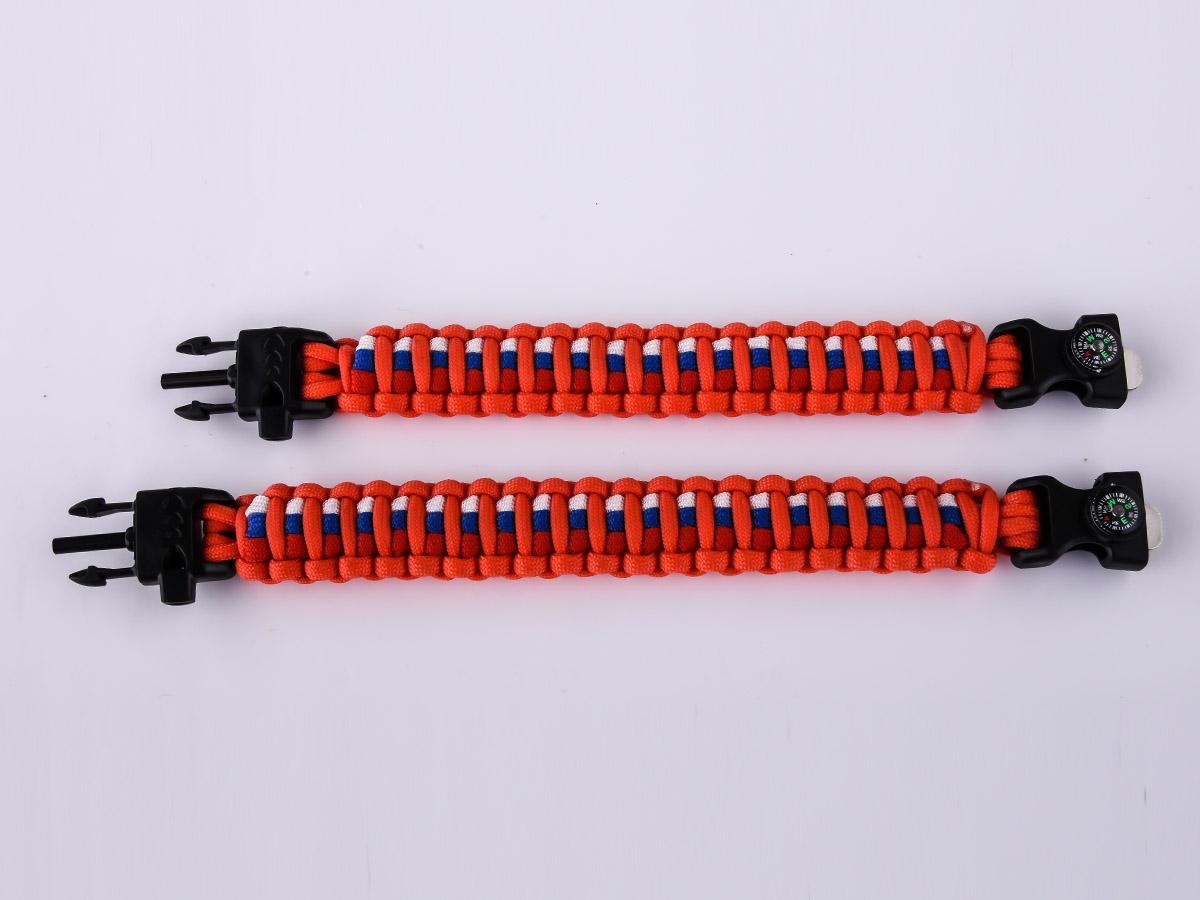 Оранжевый браслет двух размеров