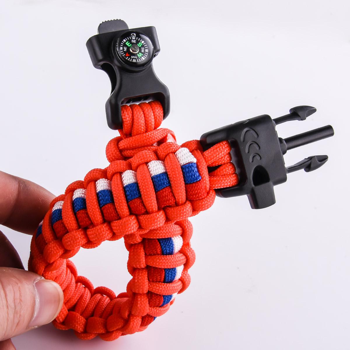 Тактический оранжевый браслет