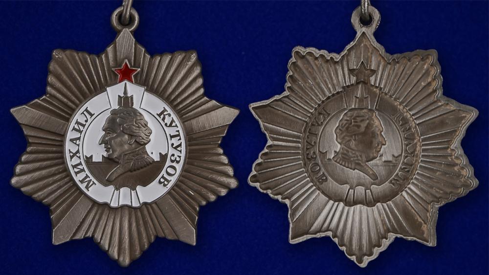Описание муляжа ордена Кутузова II степени - аверс и реверс