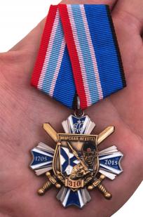 Орден Морская пехота - 310 лет (на колодке) - вид на ладони