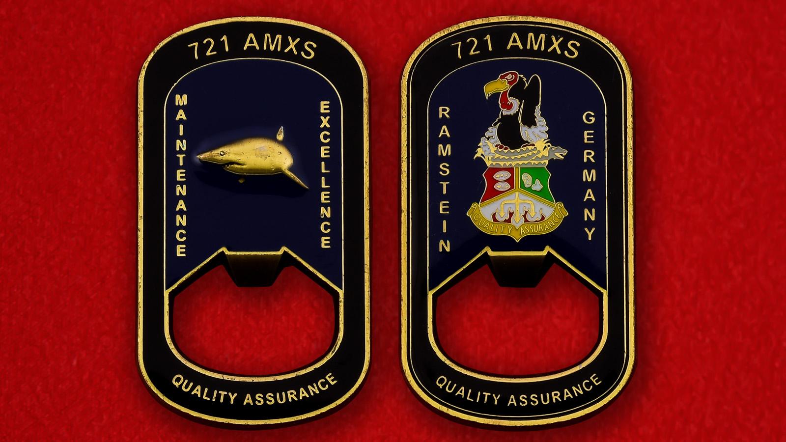 """Открывашка """"Инженерно-техническая эскадрилья 721-го крыла, авиабаза Рамштайн, Германия"""""""