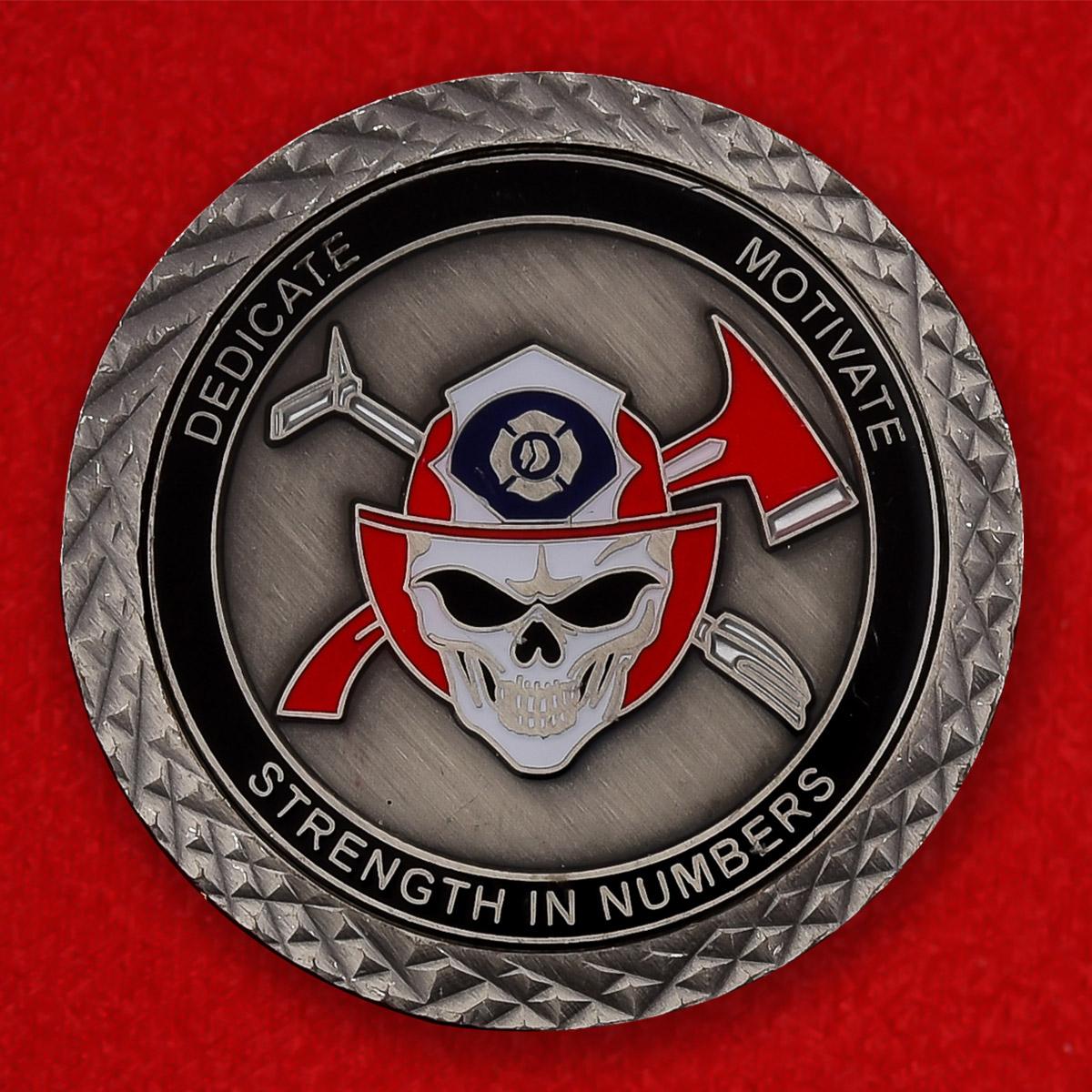 """Памятная монета """"98-е учебное подразделение Пожарной охраны Сиэттла"""""""
