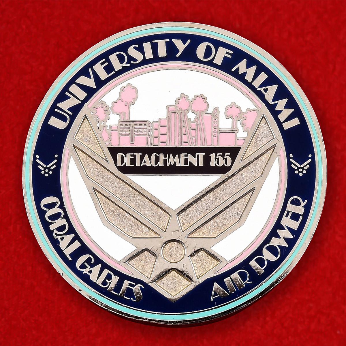 "Памятная монета Колледжа ВВС США при Университете Майами ""Detachment 155"""