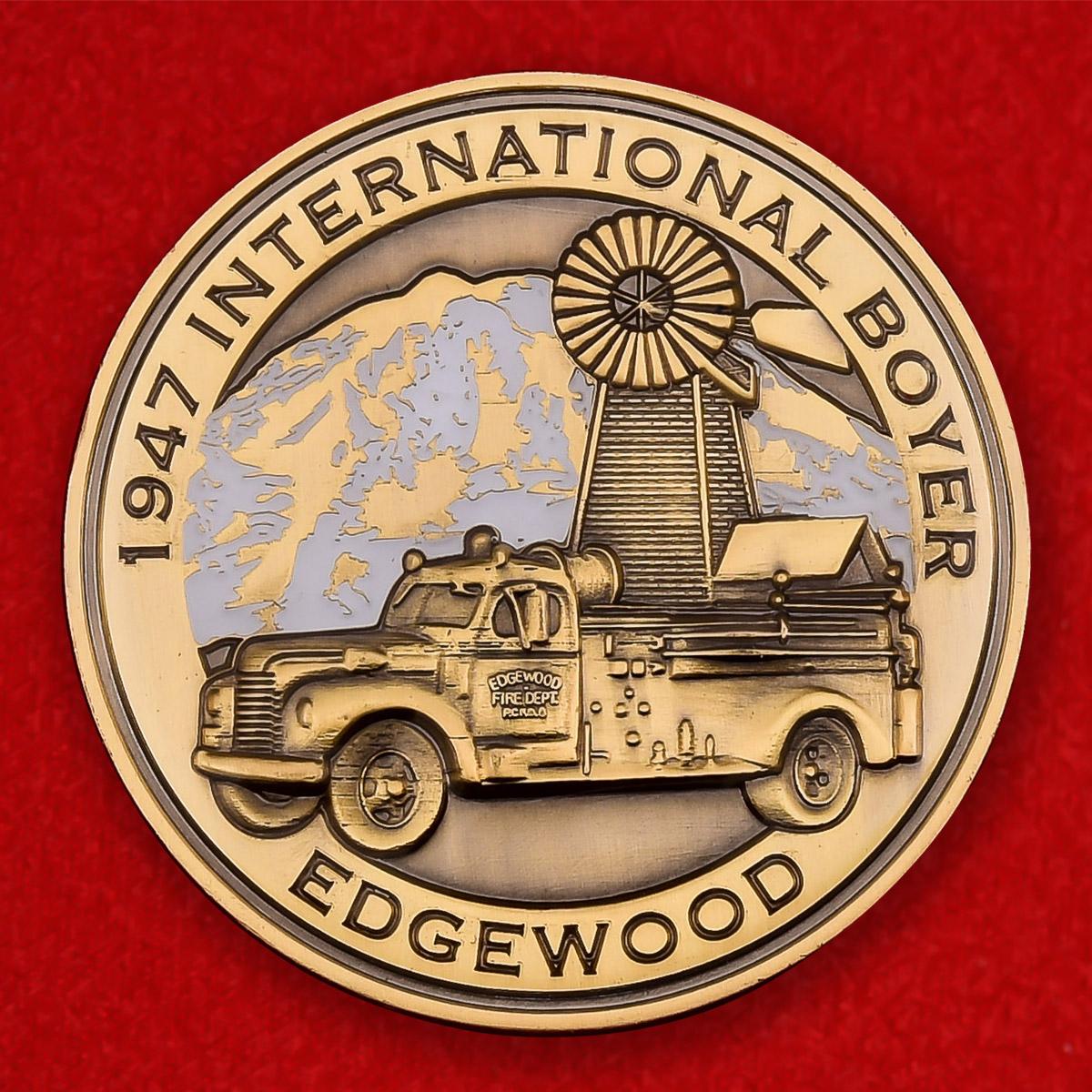 Памятная монета Пожарно-спасательной службы Эджвуда, штат Вашингтон