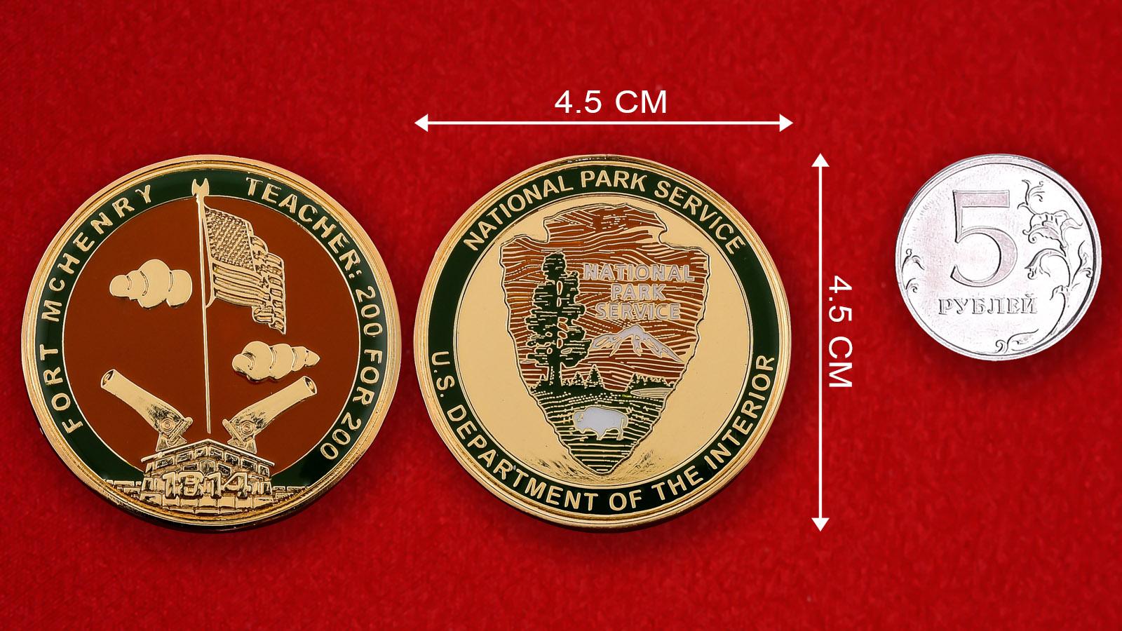 """Памятная монета США """"Национальный парк Форт Мак-Генри"""""""