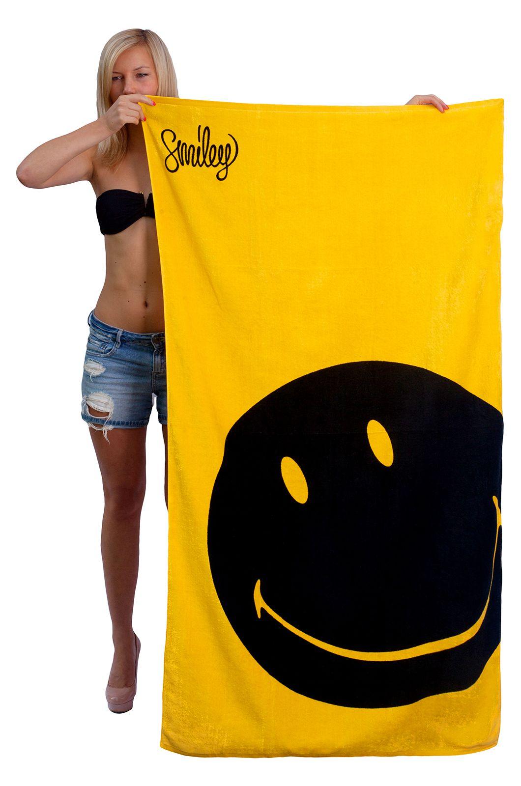 Пляжное полотенце со смайлом - купить онлайн