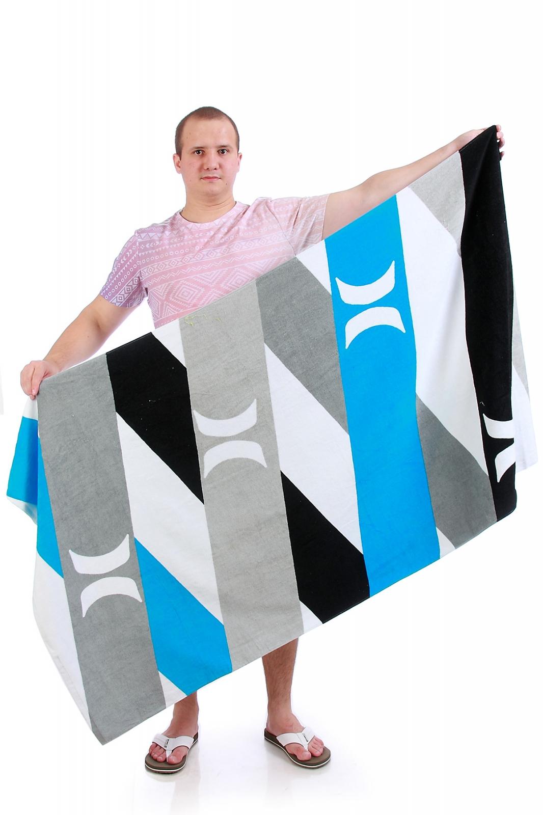Пляжное полотенце в полоску - купить онлайн в интернет-магазине