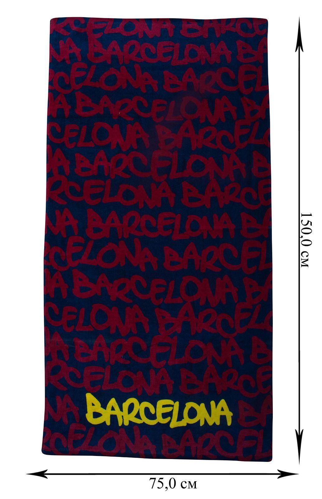 """Полотенце """"Barcelona"""" для пляжа - заказать оптом"""