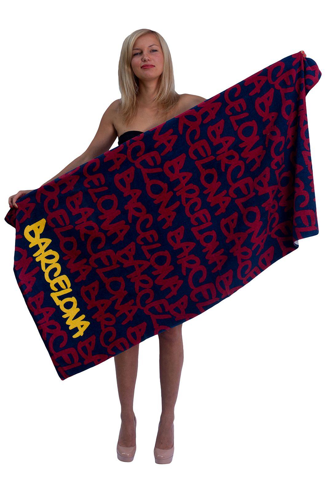 "Полотенце ""Barcelona"" для пляжа - заказать недорого онлайн"