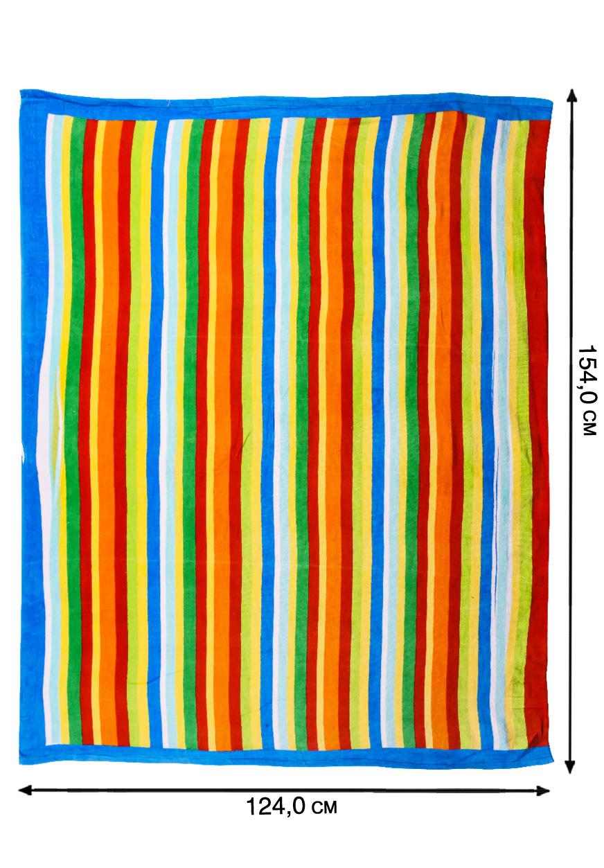 Полотенце полосатое для пляжа