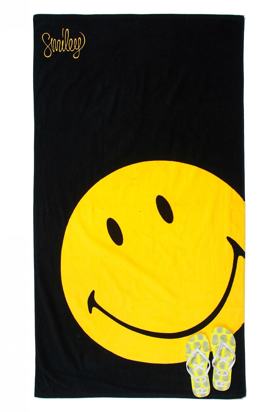 Полотенце со смайлом - интересное пляжное полотенце