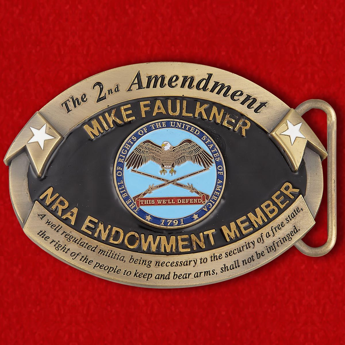 Пряжка для ремня членов Национальной Стрелковой Ассоциации США