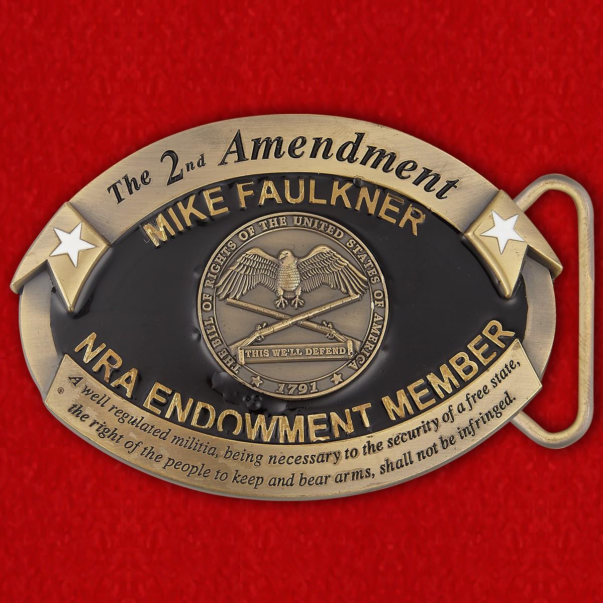 Пряжка для ремня членов Национальной Стрелковой Ассоциации США (Бронзовый уровень)
