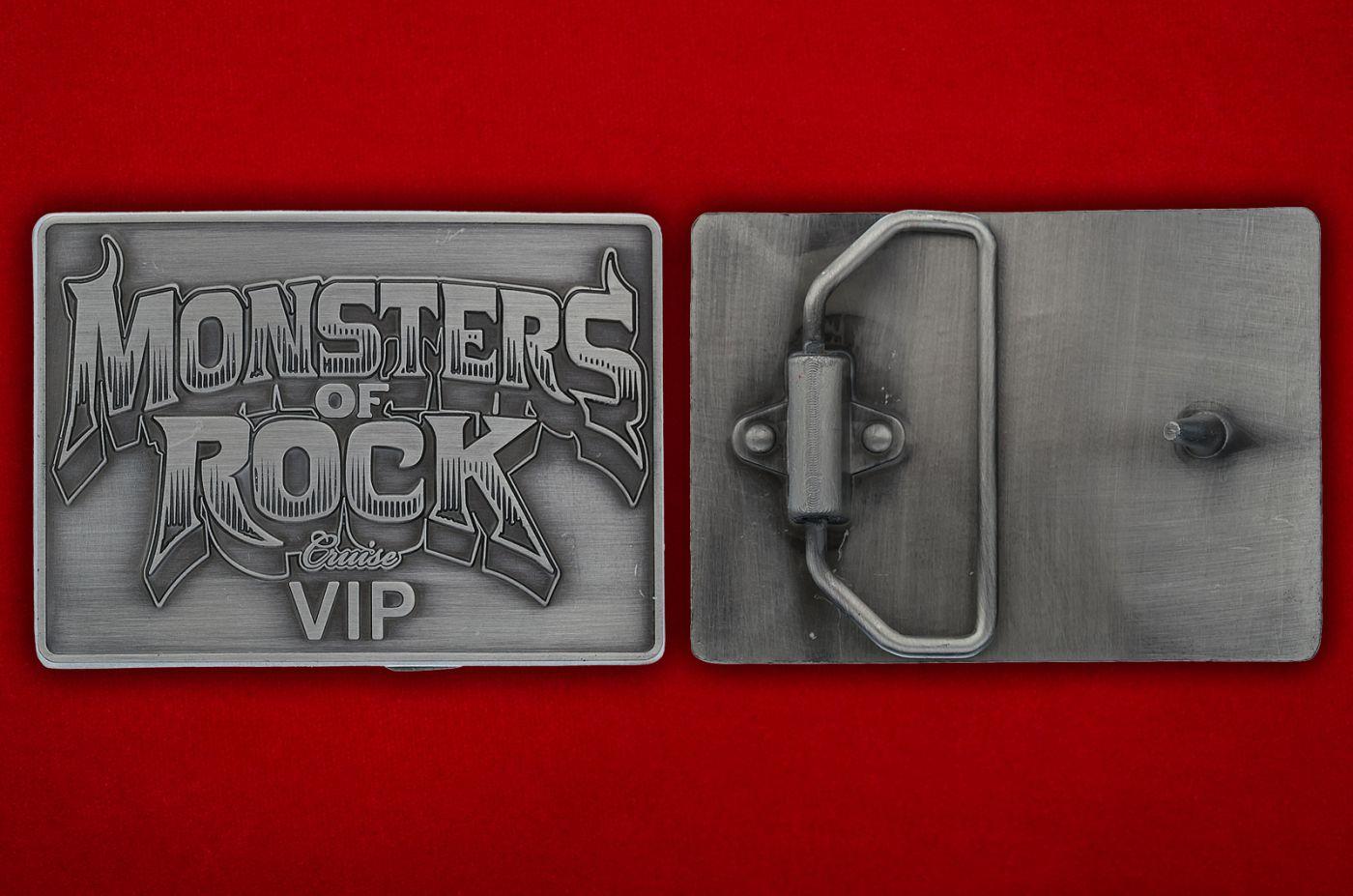 """Пряжка для ремня """"Monsters of Rock"""" - общий  вид"""