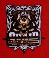 """Рекламный значок магазина """"Куэйд Харлей Девидсон, Лома Линда, Калифорния"""""""