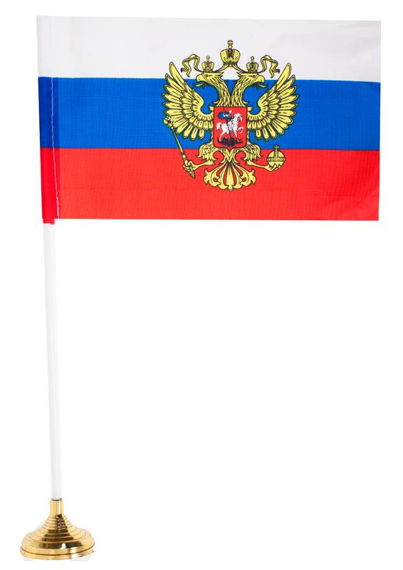 Российский флаг с гербом