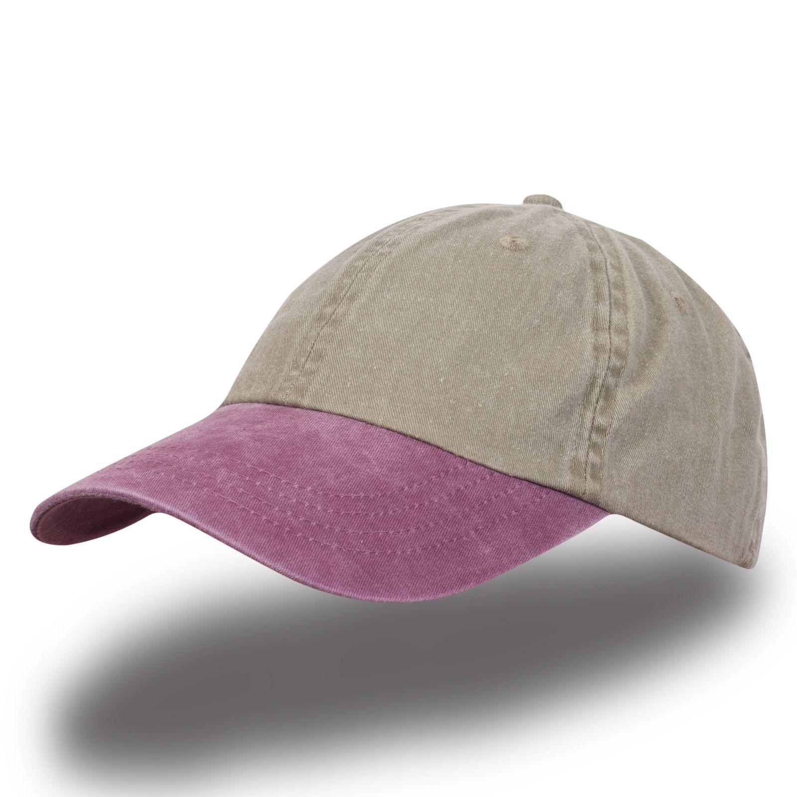 Розово-серая бейсболка меланж - купить в интернет-магазине с доставкой