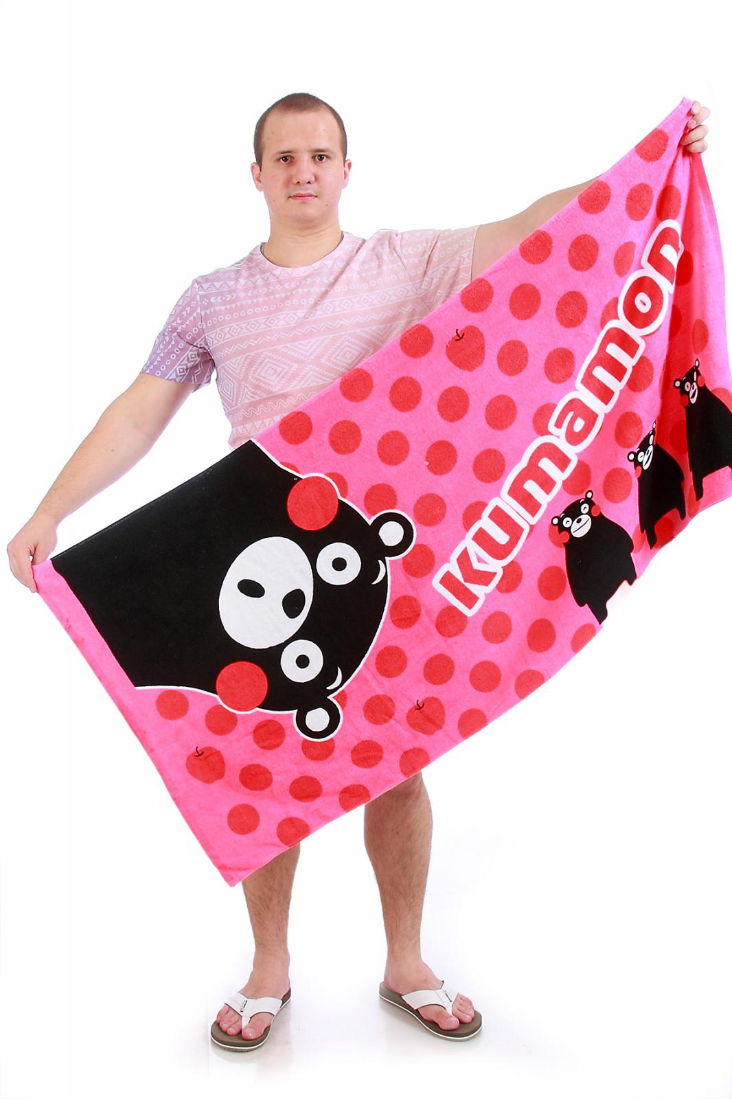 Розовое полотенце Кумамон - заказать в интернет-магазине