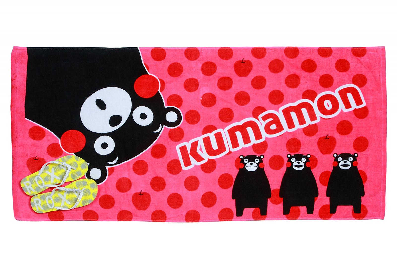 Розовое полотенце Кумамон для пляжного отдыха по низкой цене