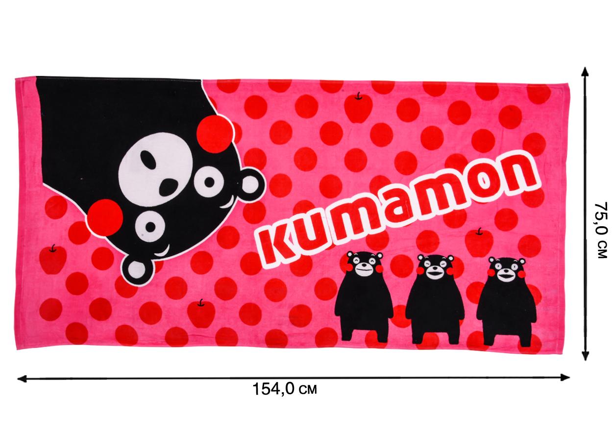 Розовое полотенце Кумамон с доставкой