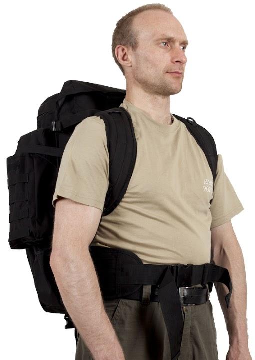 Рюкзак с чехлом для ружья черный