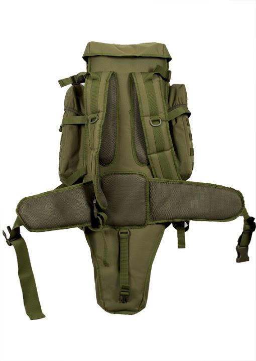 Рюкзак с чехлом для ружья хаки-оливковый