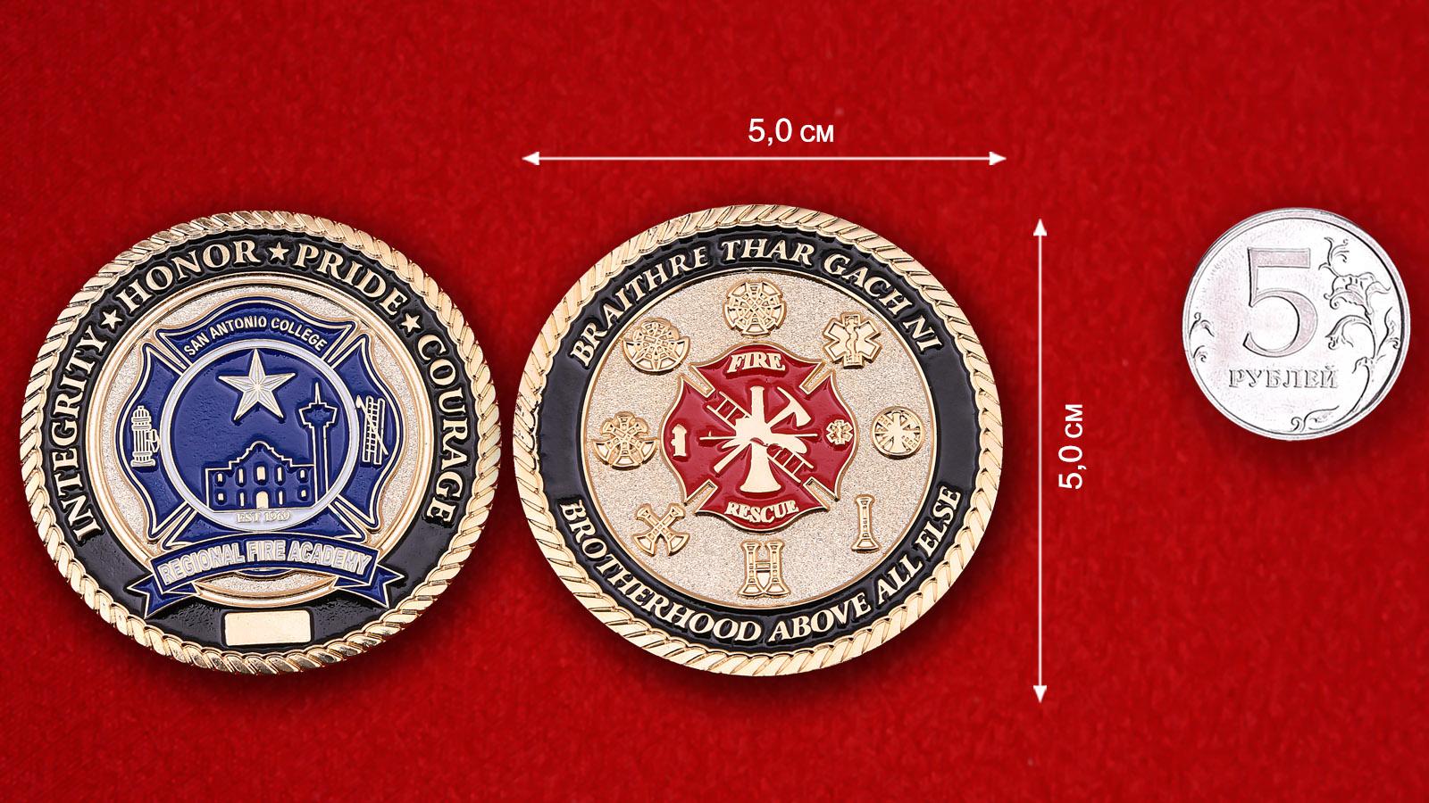 San-Antonio Regional Fire Academy Challenge Coin