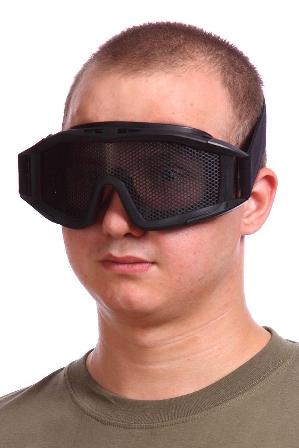 Сетчатые очки-маска Goggle чёрные