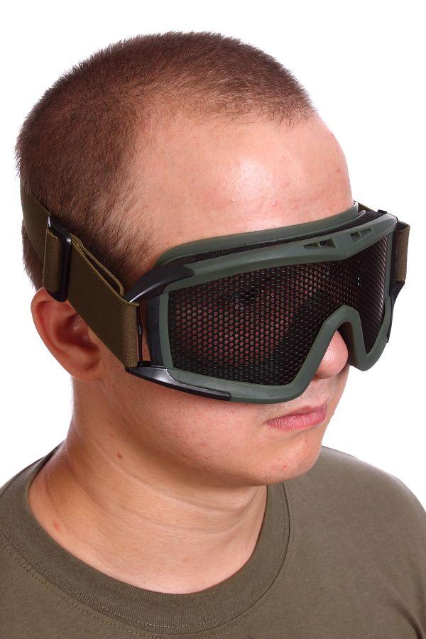 Сетчатые очки-маска Goggle хаки