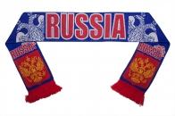 Шарф вязанный RUSSIA «Двуглавый орёл»
