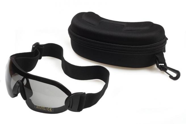Страйкбольные очки чёрные