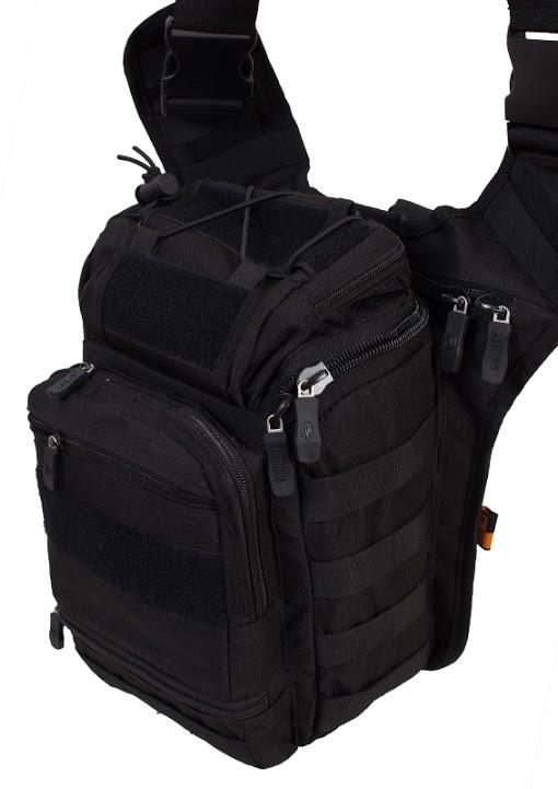 Тактическая сумка через плечо черная